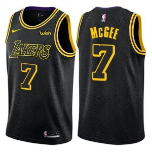 Nike Maillots Basket McGee Los Angeles Lakers City Edition Homme Noir No.7