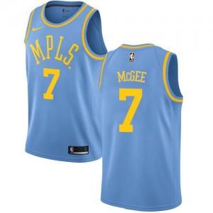 Maillot Basket JaVale McGee Lakers Homme No.7 Hardwood Classics Bleu Nike