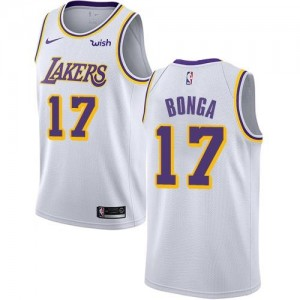 Maillot Bonga Los Angeles Lakers Enfant Nike #17 Blanc Association Edition