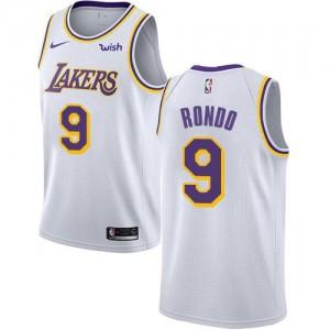 Nike Maillot De Basket Rondo LA Lakers Blanc Enfant No.9 Association Edition