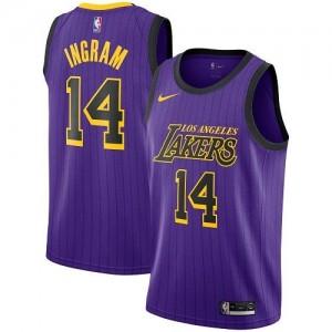 Nike NBA Maillot De Basket Brandon Ingram Los Angeles Lakers #14 City Edition Violet Homme