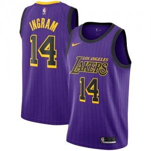 Maillots Ingram Los Angeles Lakers Nike City Edition Violet No.14 Enfant