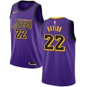 Nike Maillot Elgin Baylor Los Angeles Lakers No.22 Enfant City Edition Violet