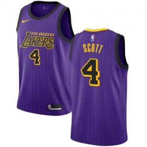 Maillots Scott LA Lakers Violet #4 Nike Homme City Edition