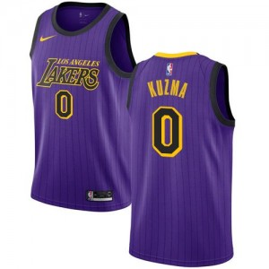 Maillots Kuzma Los Angeles Lakers City Edition Violet #0 Homme Nike