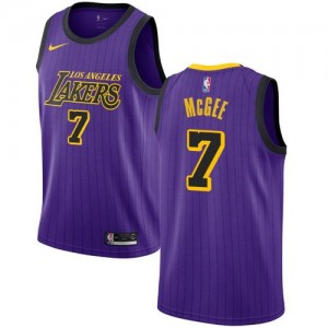Maillot De Basket JaVale McGee Los Angeles Lakers Nike Enfant City Edition Violet #7