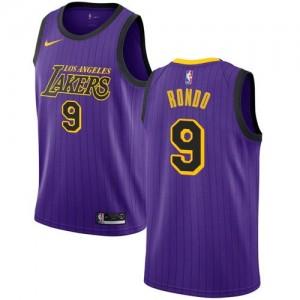 Maillot Basket Rajon Rondo Lakers Nike Violet City Edition #9 Enfant