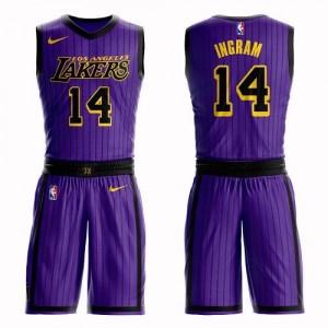 Maillots De Ingram Lakers Nike Suit City Edition Homme No.14 Violet