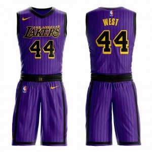 Nike NBA Maillot De Jerry West Los Angeles Lakers No.44 Homme Violet Suit City Edition