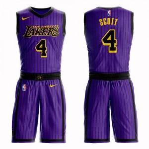 Nike NBA Maillot Scott LA Lakers Homme Violet #4 Suit City Edition