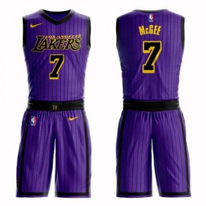 Nike Maillot JaVale McGee Los Angeles Lakers #7 Homme Suit City Edition Violet