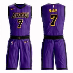 Nike Maillot De Basket JaVale McGee Lakers Violet Suit City Edition Enfant No.7
