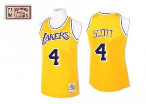 Mitchell and Ness NBA Maillots De Basket Scott Lakers Homme #4 Throwback or
