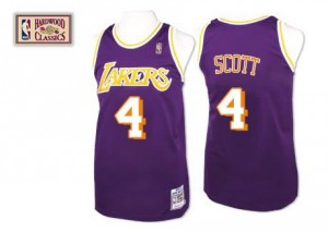 Mitchell and Ness NBA Maillot De Basket Scott Los Angeles Lakers Throwback Homme No.4 Violet