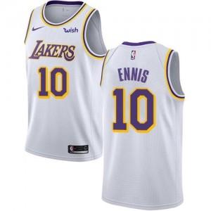 Maillot Tyler Ennis Los Angeles Lakers No.10 Blanc Association Edition Enfant Nike