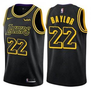 Maillots De Elgin Baylor LA Lakers City Edition Noir No.22 Homme Nike