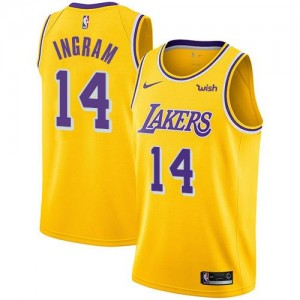 Nike Maillot Ingram Los Angeles Lakers or #14 Homme Icon Edition