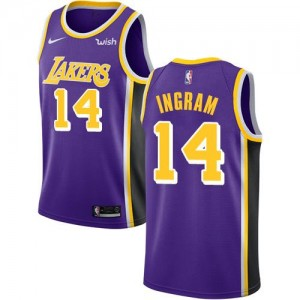 Nike NBA Maillots Basket Brandon Ingram Los Angeles Lakers Violet No.14 Homme Statement Edition