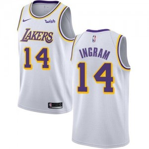 Nike Maillot Brandon Ingram Los Angeles Lakers Blanc No.14 Homme Association Edition