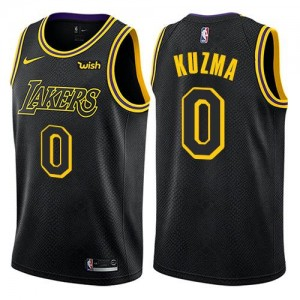 Nike NBA Maillot Basket Kuzma Lakers City Edition No.0 Homme Noir