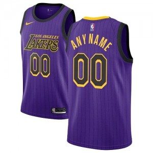 Nike NBA Maillot Personnalise Basket Los Angeles Lakers City Edition Enfant Violet