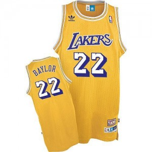 Mitchell and Ness Maillot De Basket Baylor LA Lakers or Throwback Homme No.22