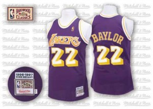 Mitchell and Ness NBA Maillot Basket Baylor LA Lakers Throwback Violet Homme No.22