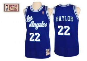 Mitchell and Ness Maillots De Baylor Lakers No.22 Throwback Homme Bleu
