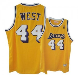 Mitchell and Ness NBA Maillot Basket West Lakers Throwback No.44 Homme or
