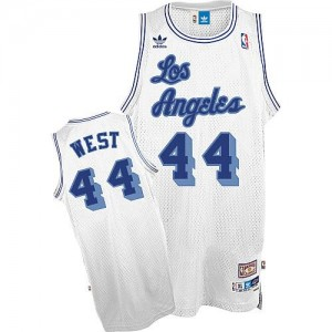 Mitchell and Ness NBA Maillot Basket West Lakers Throwback No.44 Homme Blanc