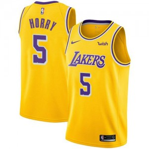 Nike NBA Maillots De Horry Lakers Homme Icon Edition or #5