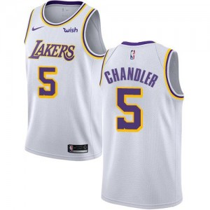 Nike NBA Maillots Chandler LA Lakers Enfant Association Edition Blanc No.5