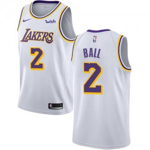 Nike NBA Maillot Lonzo Ball Los Angeles Lakers Association Edition Enfant #2 Blanc