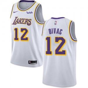 Nike Maillots Basket Vlade Divac LA Lakers Blanc No.12 Enfant Association Edition