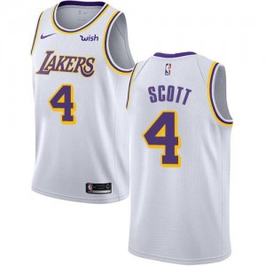 Nike Maillot De Byron Scott LA Lakers Association Edition #4 Enfant Blanc