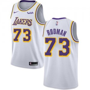 Nike NBA Maillot Dennis Rodman Lakers Blanc No.73 Enfant Association Edition