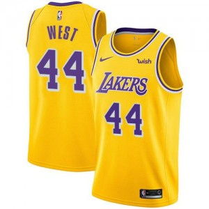 Nike NBA Maillot Basket Jerry West LA Lakers or Icon Edition Enfant No.44