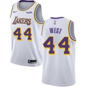 Nike Maillots Jerry West Lakers Association Edition No.44 Enfant Blanc