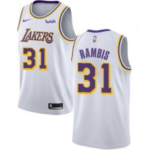 Nike Maillot De Basket Rambis Lakers Association Edition Enfant Blanc No.31