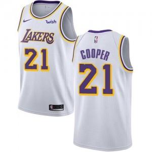 Nike NBA Maillots De Basket Michael Cooper LA Lakers No.21 Blanc Enfant Association Edition