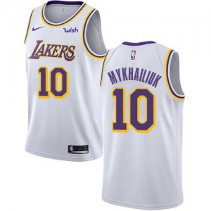 Nike NBA Maillots De Basket Mykhailiuk LA Lakers Enfant #10 Association Edition Blanc