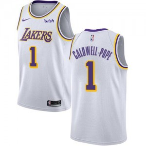 Nike NBA Maillots Basket Caldwell-Pope LA Lakers Blanc No.1 Enfant Association Edition