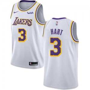 Maillots Josh Hart Lakers #3 Blanc Nike Enfant Association Edition