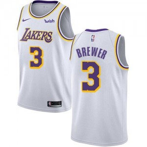 Nike NBA Maillot Basket Brewer Los Angeles Lakers Blanc No.3 Enfant Association Edition