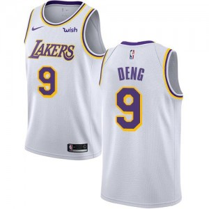 Nike NBA Maillots Deng LA Lakers Association Edition Enfant #9 Blanc