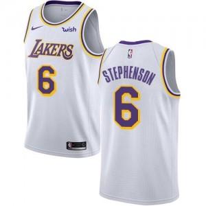 Maillots Basket Lance Stephenson LA Lakers No.6 Blanc Enfant Nike Association Edition