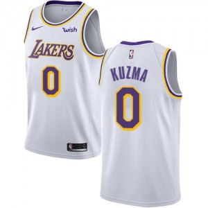 Maillots De Kuzma Los Angeles Lakers Enfant No.0 Nike Association Edition Blanc
