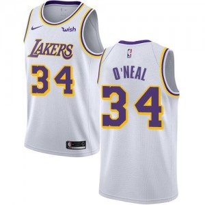 Nike NBA Maillot Basket Shaquille O'Neal Lakers #34 Enfant Blanc Association Edition