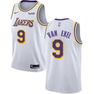 Nike Maillots De Basket Van Exel Los Angeles Lakers #9 Association Edition Blanc Enfant