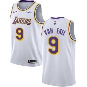 Nike Maillots De Basket Van Exel Los Angeles Lakers #9 Association Edition Blanc Enfant